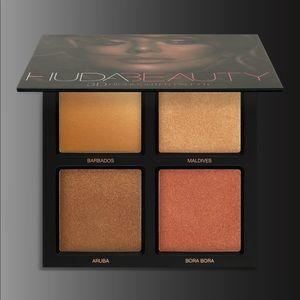 Huda Beauty 3D Highlighter Palette In Bronze Sands